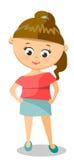 美好的桃红色上面的逗人喜爱的女孩 免版税库存图片