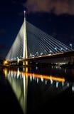 美好的桥梁反射到水里 图库摄影