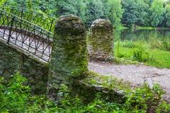 美好的桥梁非常公园s石头视图 库存图片
