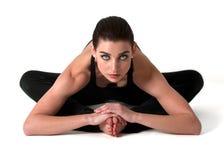 美好的模型瑜伽 免版税库存照片