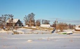 美好的横向农村冬天 图库摄影