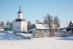 美好的横向农村冬天 免版税库存照片