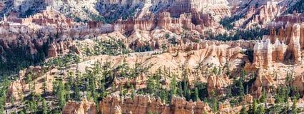 美好的横向在与壮观的石forma的Bryce峡谷 免版税图库摄影