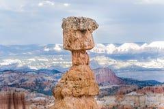 美好的横向在与壮观的石forma的Bryce峡谷 图库摄影