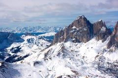 美好的横向山冬天 免版税图库摄影