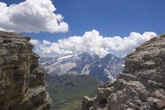 美好的横向山夏天 免版税库存照片