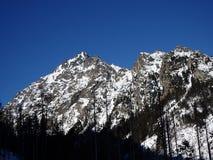 美好的横向山日出冬天 库存照片