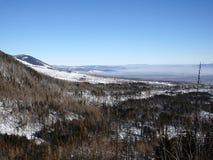 美好的横向山日出冬天 免版税图库摄影