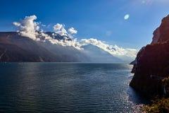 美好的横向 加尔达湖看法  免版税图库摄影