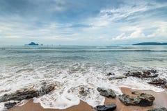 美好的横向 安达曼海在离海岸的附近 图库摄影