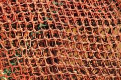 美好的橙色捕鱼网,背景,爱尔兰 库存图片