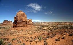 美好的沙漠横向 图库摄影