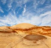 美好的沙漠自然风景在犹他 免版税库存照片