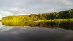 美好的河风景,游人明轮船,慢动作 股票录像