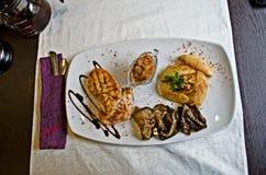 美好的法国晚餐 库存图片