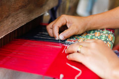 美好的泰国棉花设计 免版税库存图片