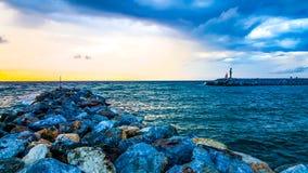美好的海视图在托斯卡纳 免版税图库摄影