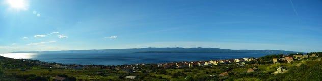 美好的海全景在克罗地亚 库存图片