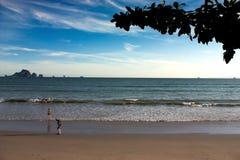 美好的海和天空颜色 免版税库存图片