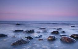 美好的海岸场面 库存照片
