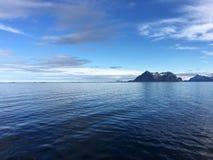 美好的海岸线在北挪威 免版税库存图片