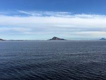 美好的海岸线在北挪威 库存照片