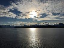 美好的海岸线在北挪威 免版税库存照片
