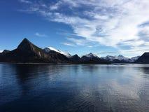 美好的海岸线在北挪威 库存图片