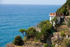 美好的海岸线在Cinque Terre 库存图片