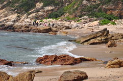 美好的海岸线路 免版税库存图片