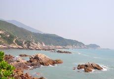 美好的海岸线路 库存图片