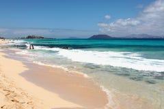 美好的海岸线 加那利群岛西班牙 免版税图库摄影