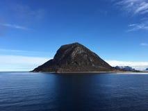 美好的海景在北挪威 免版税库存图片