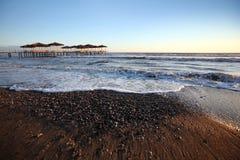 美好的海边背景 免版税库存照片