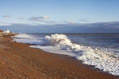 美好的海边背景 图库摄影