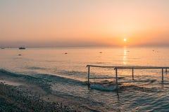 美好的海风景在土耳其 免版税库存照片