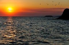 美好的海风景 库存照片