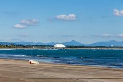 美好的海滩和海岸线在Aoshima海岛,宫崎,日本 免版税库存图片