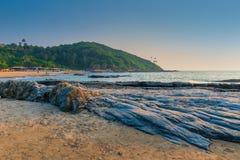 美好的海滩胜地在果阿 库存图片