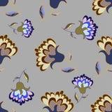 美好的淡色花卉无缝的样式 免版税库存图片