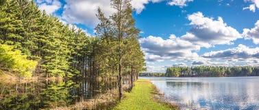 美好的湖反射 图库摄影