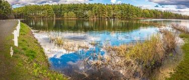 美好的湖反射 免版税库存照片