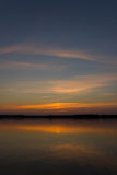 美好的湖日落 图库摄影