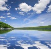 美好的湖横向 库存照片