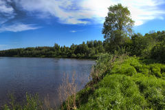 美好的湖视图 免版税库存照片