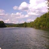 美好的湖视图 库存照片
