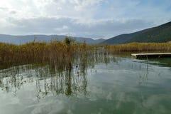 美好的湖scape 库存照片