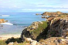 美好的澳大利亚岩石海岸线 免版税图库摄影