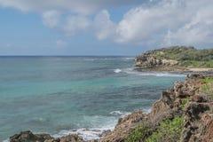 美好的热带海岸线 免版税库存照片