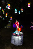 美好的照明设备新年 免版税图库摄影